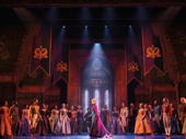 Caroline Bowman & the company of the touring production of Disney's Frozen, photo by Deen van Meer