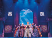 Caroline Innerbichler & the company of the touring production of Disney's Frozen, photo by Deen van Meer