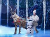 Collin Baja & F. Michael Haynie in the touring production of Disney's Frozen, photo by Deen van Meer