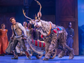 Mason Reeves, Collin Baja & the company of the touring production of Disney's Frozen, photo by Deen van Meer