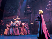 Caroline Innerbichler, Caroline Bowman & the company of the touring production of Disney's Frozen, photo by Deen van Meer