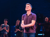 Sean Allan Krill at the opening night curtain call as Steve Healy.