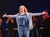 Elizabeth Stanley takes her opening night bow as Mary Jane Healy.