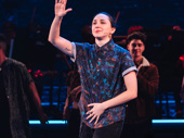 Lauren Patten thanks the audience at the curtain call.