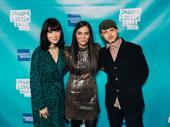 Jagged Little Pill's creative team gets together: book-writer Diablo Cody, director Diane Paulus and choreographer Sidi Larbi Cherkaoui.