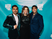 Producers Arvind Ethan David, Eva Price and Vivek J. Tiwary step out to celebrate the night.