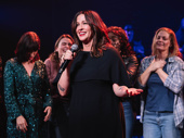 Alanis Morissette addresses the opening night audience.