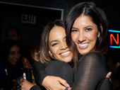Leslie Grace and Stephanie Beatriz smile for the cameras.