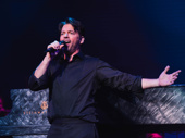 Harry Connick Jr. belts out a note during curtain call.