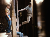 Taylor Trensch as Dill and Nick Robinson as Jem in To Kill a Mockingbird.