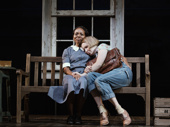 LisaGay Hamilton as Calpurnia and Nina Grollman as Scout in To Kill a Mockingbird.