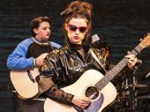 "Max William Bartos as Darren and Zara Devlin as Raphina in ""Sing Street"" at New York Theatre Workshop."