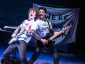 """Brenock O'Connor as Conor and Jakeim Hart as Larry in """"Sing Street"""" at New York Theatre Workshop."""