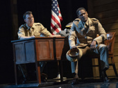 Jerry O'Connell as Captain Charles Taylor and Blair Underwood as Captain Richard Davenport in A Soldier's Play.