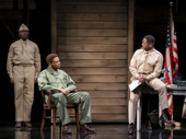 Warner Miller as Corporal Ellis, Nnamdi Asomugha as Private First Class Melvin Peterson and Blair Underwood as Captain Richard Davenport in A Soldier's Play.