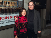 Georgiana Bischoff and her husband, actor Richard Thomas who starred with Laura Linney in The Little Foxes on Broadway.
