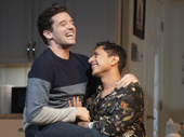 Michael Urie as Brian and Maulik Pancholy as Tommy in Grand Horizons.