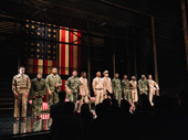 The cast of A Soldier's Play takes in the opening night ovation. Catch them at the American Airlines Theatre through March 15.