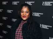 Two-time Pulitzer Prize-winning playwright Lynn Nottage, whose early work was inspired by Charles Fuller, poses before on opening night.