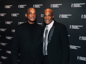 TK and director Kenny Leon before the opening night performance began.