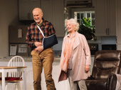 James Cromwell and Jane Alexander, who play a couple splitting up after 50 years of marriage, take their bow on opening night.