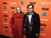 Oscar-winning playwright and Second Stage alum Kenneth Lonergan pose with wife J. Smith-Cameron.