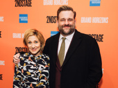 Television Nurse Jackie co-stars Edie Falco and Stephen Wallem pose on the red carpet.