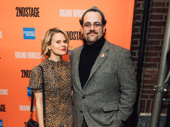 Second Stage alum Celia Keenan-Bolger, who acted in director Leigh Silverman's 2016 production of Tumacho, poses with actor Greg Hildreth, who's appearing in this season's revival of Company.