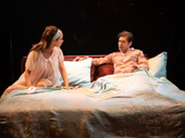Ana Nogueira as Alice and Michael Zegen as Ted in Bob & Carol & Ted & Alice.