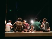 The first scene of The Inheritance, shot from the wings of the stage.