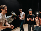 Kyle Harris, Darryl Gene Daughtry Jr, Carson McCalley, Kyle Soller and Jonathan Burke share a laugh before the show.