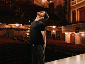 Kyle Soller gets ready to play Eric Glass, the play's protagonist and moral center.