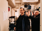 Tony Goldwyn gets into costume again with the help of his dresser Bryen Shannon.