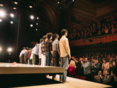 The cast takes their curtain call after another triumphant performance.