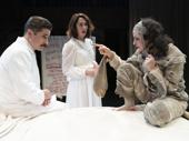Matthew Saldivar, Kelley Curran and Kate Hamill in Dracula.