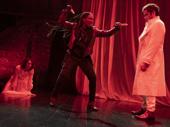 Kelley Curran, Jessica Frances Dukes and Matthew Amendt in Dracula.