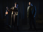 David Acton and Ben Porter in the McKittrick Hotel's production of The Woman in Black, returning the play to its original form as a site-specific theater piece.