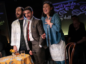 Matt Dallal, Adam Kantor and Aury Krebs on stage at the Black Box Theatre at the Harold and Miriam Steinberg Center for Theatre.
