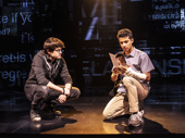 David Jeffery as Connor and Jordan Fisher as Evan in Dear Evan Hansen.