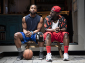 Toussaint Jeanlouis as Cordell and Nicco Annan as Big Charles in The Hot Wing King.