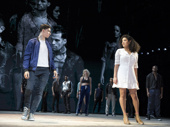 Isaac Powell as Tony and Shereen Pimentel as Maria in West Side Story.