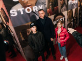 Tony-winning actor Liev Schreiber takes his kids out for a night on the town.