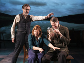 Matt McGrath as Reverend Marlowe, Mare Winningham as Elizabeth Laine and Todd Almond as Elias Burke in Girl From the North Country.