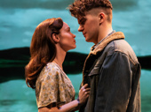 Caitlin Houlahan as Kate Draper and Colton Ryan as Gene Laine in Girl From the North Country.