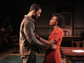 Austin Scott as Joe Scott and Kimber Elayne Sprawl as Marianne Laine in Girl From the North Country.