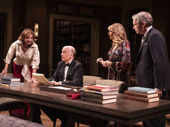 Margaret Colin as Evy Arlen-Stahl, Frank Wood as Joseph Stahl, Ilana Levine as Natalie Hochberg-Resnik and Gregg Edelman as Ted Resnik in The Perplexed.