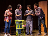 Jacqueline Guillen as Eva, Triney Sandoval as Billy, Bobby Moreno as Christian and Tyler Alvarez as Aaron in 72 Miles To Go.