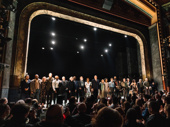 The cast of Girl From the North Country take their opening night bow.