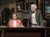 Blair Brown as Ms. Innes and Austin Pendleton as Mr. Oldfield in The Minutes.