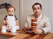 Like father, like daugher. Rob McClure enjoys Federal Donuts with his daughter Sadie.